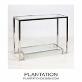 Maxwell Console Table | Nickel