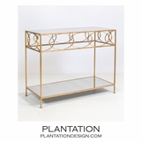 Sean Console Table | Gold Leaf