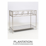 Sean Console Table | Silver Leaf