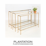 Skinny Console Tables | Gold