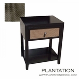 Fabric Front Side Table | 1-Drawer
