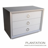 Mercer Side Table | 3 Fabric Drawers