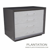 Mercer Side Table | 4 Fabric Drawers