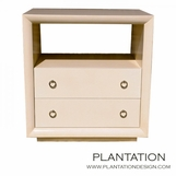 Mercer Side Table | Parchment 2-Drawer