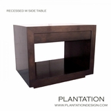 Recessed W Side Table | No. 2