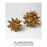 Spiky Deco Spheres | Satin Gold
