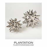 Spiky Deco Spheres | Shiny Silver