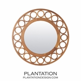 Roundabout Walnut Mirror