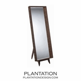 Outback Floor Mirror | Brown