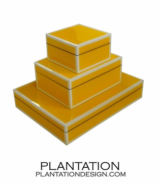 Lacquered Boxes | Poppy Yellow