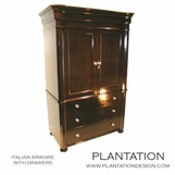 Italian Armoire | 3-Drawer