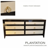 Fabric Front Dresser | Faux Crocodile