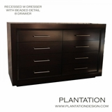 Recessed W Dresser | 8-Drawer