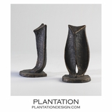 Wise Iron Bookends