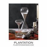 Tall Hourglasses Set | White Sand