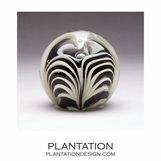 Solstice Small Glass Paperweight | Zebra