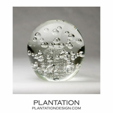 Solstice Large Glass Paperweight | Clear