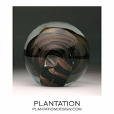 Solstice Large Glass Paperweight | Smoke