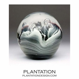 Solstice Small Glass Paperweight | Black