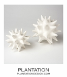 Spiky Deco Spheres | Shiny White