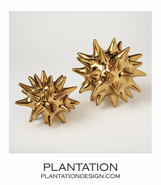 Spiky Deco Spheres | Shiny Gold