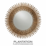 Kentwood Round Wall Mirror | Gold