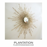 Neverland Wall Mirror | Brass