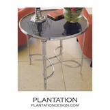Belvedere Side Table | Large Nickel