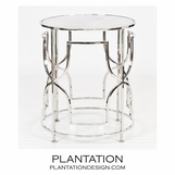 Ella Side Table | Nickel