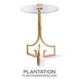 Icarus Iron Side Table | Gold