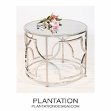 Mykonos Side Table | Nickel
