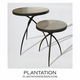 Spider Iron Tables | Grey Marble