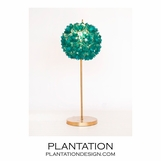 Lotus Gold Leaf Lamp | Turquoise Capiz