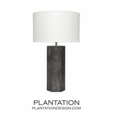 Mathison Leather Table Lamps | Grey