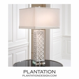 Moorish Marble Table Lamp | Square