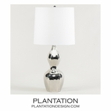 Celine Table Lamp | Nickel