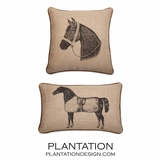 Equestrian Jute Pillows