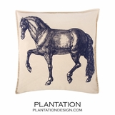 Prancer Canvas Pillow | Square