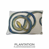 Serpent Linen Pillow | Blue