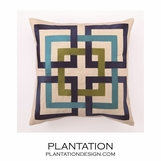 Links Pillow | Blue & Green
