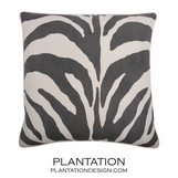 Wild Side Linen Pillow | Grey