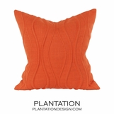 Wavery Linen Pillows | Orange