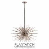 Fireball Chandelier | Polished Nickel