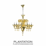 Murano Style Chandelier | Amber