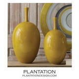 Mystique Ceramic Vases | Citron