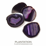 Bahia Agate Coasters | Purple