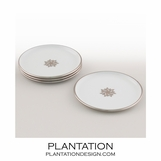 Stellar Coasters Set | White & Platinum