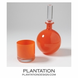 Bacchus Mini Decanter & Glass | Orange