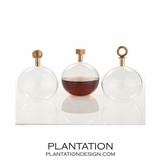 Sawtelle Decanters | Antique Brass