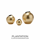 Hatch Porcelain Vases Set | Gold